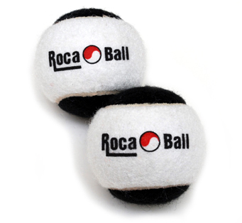 Two 1 lb Roca Balls - Black & White, Two one pound Roca Balls.  One pound balls are ideal for hand exercises such as ball rotations.  Perfect for smaller hands. They are great for juggling too.  See exercises page for example exercises. The black and white version is a limited edition. Quantities are limited.