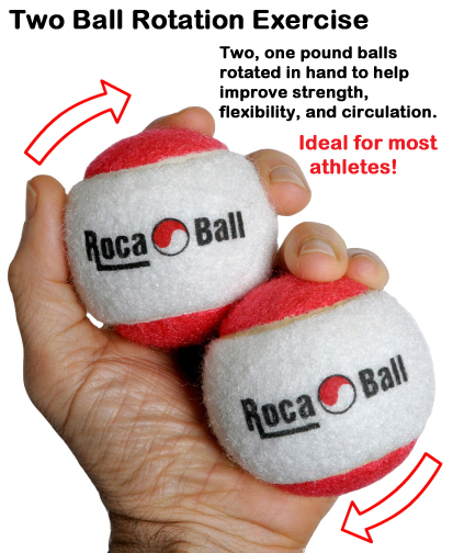 Two ball rotation exercise. Ideal for strength and circulation.