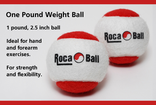 Roca Ball exercise weight balls.